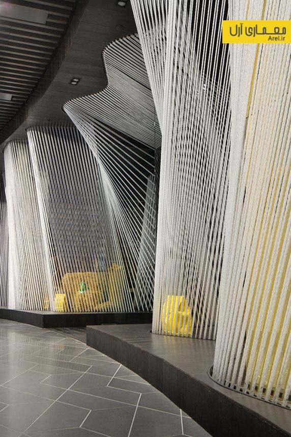 طراحی داخلی فروشگاه لباس برند  Yellow Earth