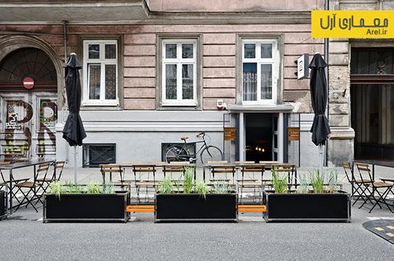 طراحی داخلی کافه بار Zrodlo
