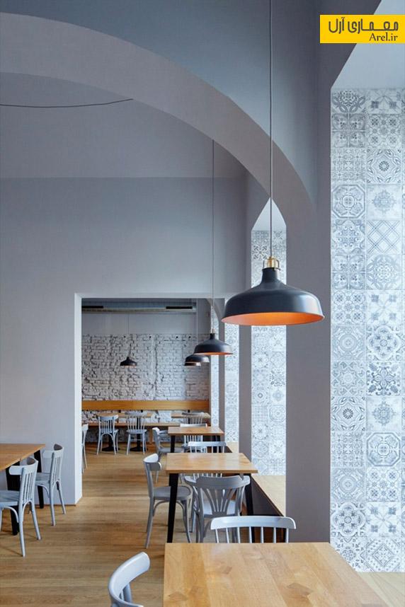 معماری داخلی رستوران nejen bistro