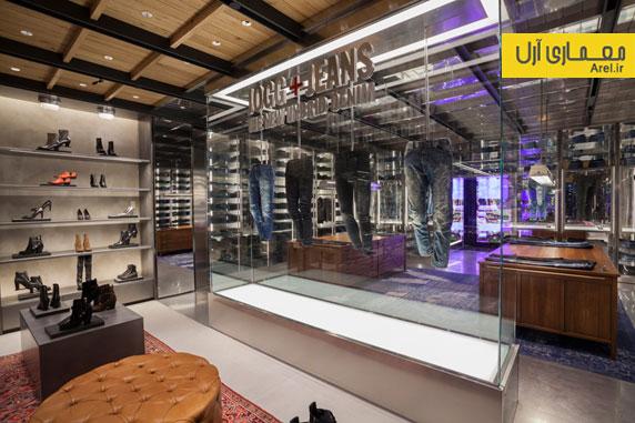 طراحی داخلی فروشگاه برند دیزل درمنهتن
