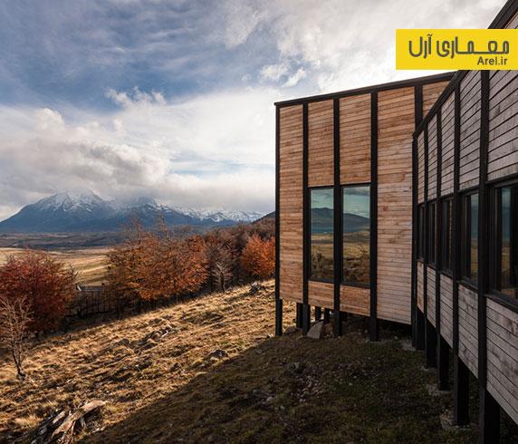 طراحی و معماری داخلی خانه های ویلایی در دل طبیعت زیبای کوه پاتاگونیا