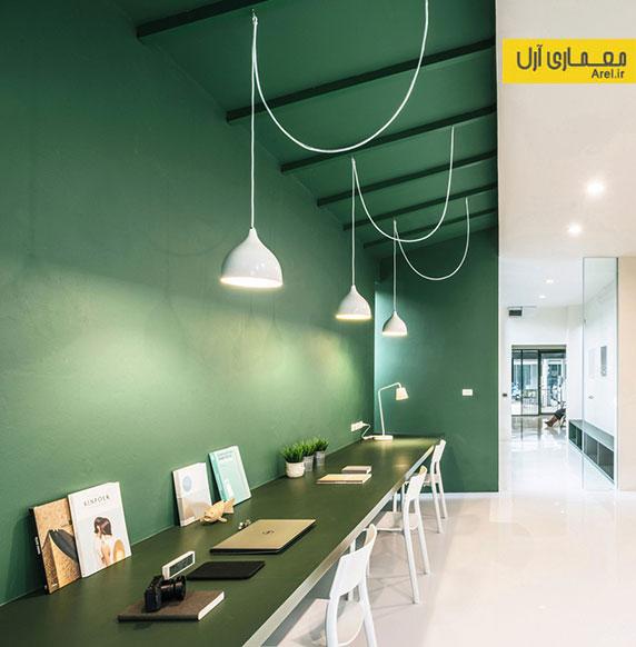 طراحی داخلی دفتر اداری سبز شماره 26