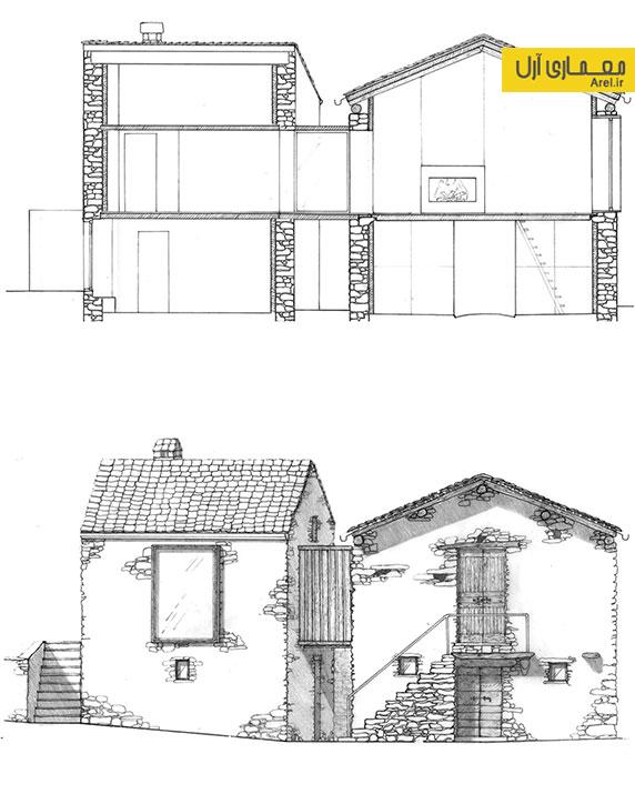 طراحی و معماری داخلی ویلای سنگی مربوط به قرن 16
