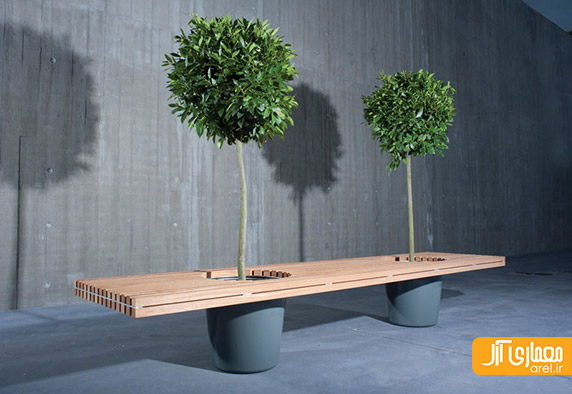 مبلمان خلاقانه،مبلمان مدرن،گیاه روی مبلمان
