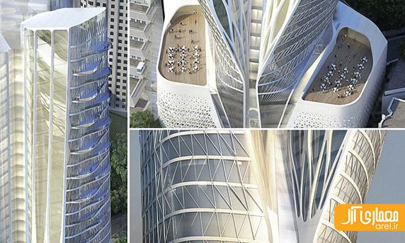 معماری هتل فرشته، اثر زاها حدید در تهران