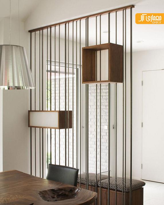 جداکننده ی فلزی و چوبی،دیوایدر در طراحی داخلی