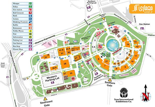 نقشه نمایشگاه بین المللی مبلمان اداری تهران 95