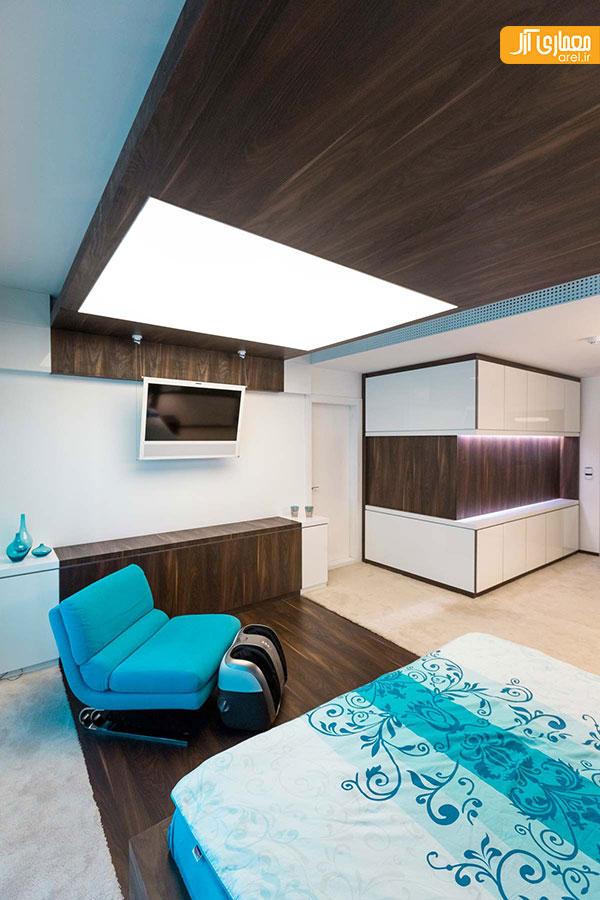 طراحی داخلی خانه آبی ملایم رضا نجفیان