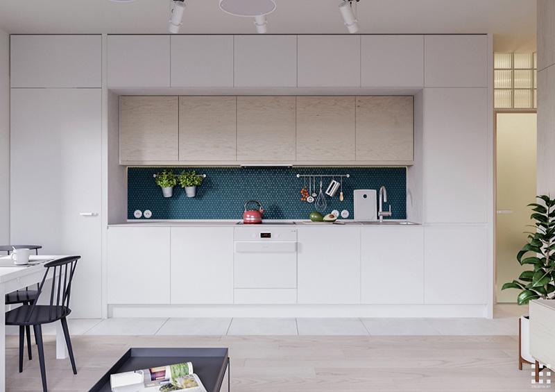 دکوراسیون داخلی آشپزخانه مدرن سفید