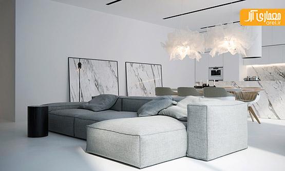طراحی داخلی مینیمال،طراحی داخلی آپارتمان مینیمال