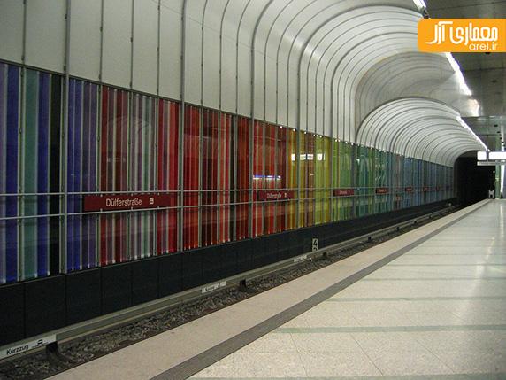 طراحی خلاقانه ایستگاه ه های مترو مونیخ