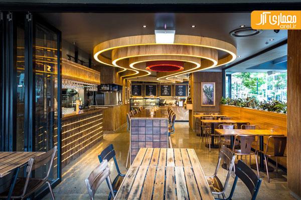 دکوراسیون داخلی کافه رستوران در استرالیا آرل