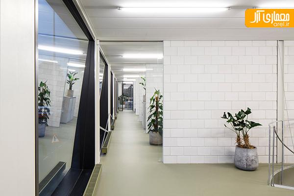 طراحی داخلی دفتر اداری سبز در آمستردام