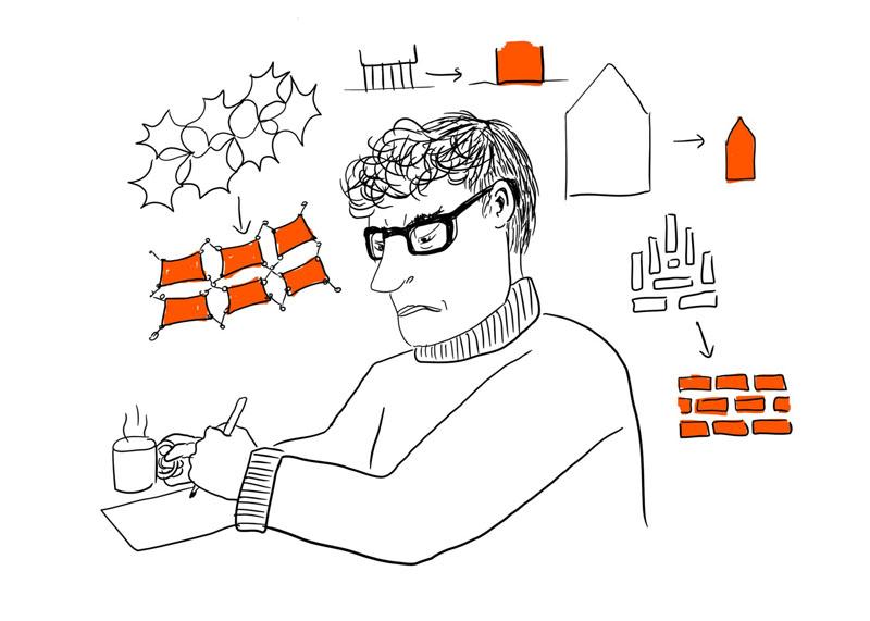 5 مرحله خلاقیت که یک معمار  در هر پروژه تجربه می کند!