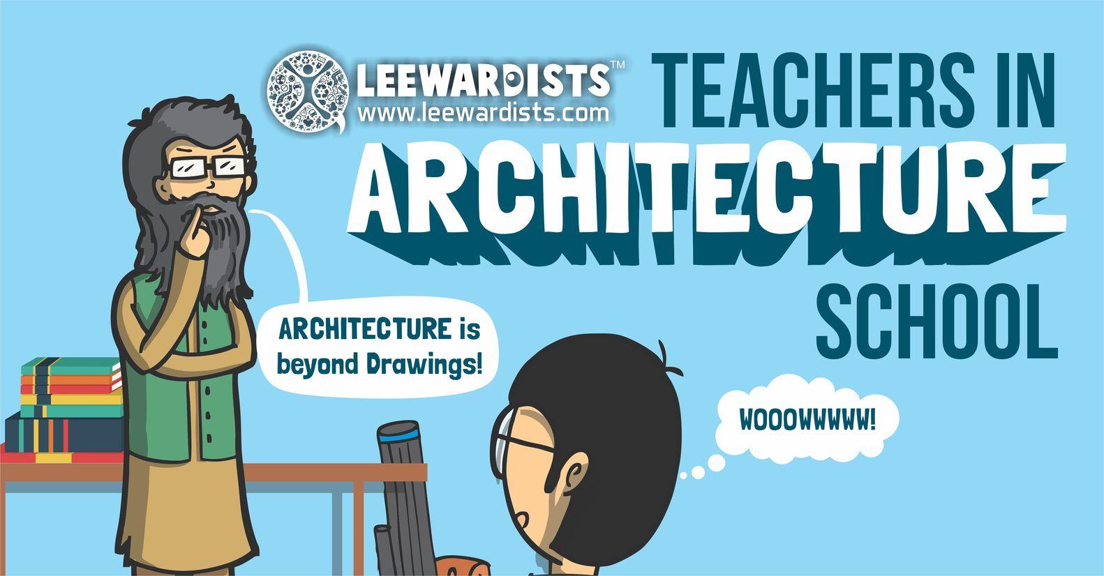 10 استاد معماری که هر دانشجویی تجربه کرده است!!