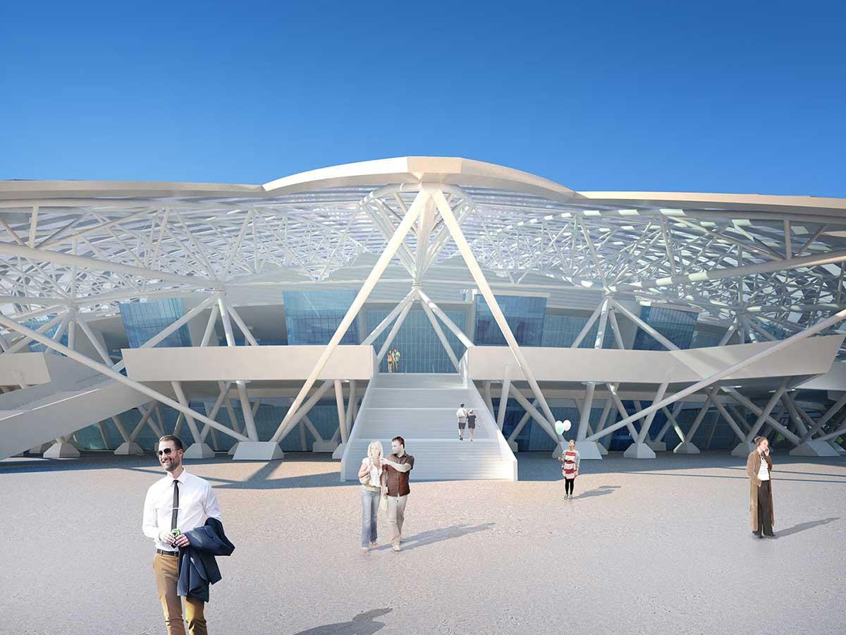 طراحی ورزشگاه کاسموس آرنا جام جهانی 2018