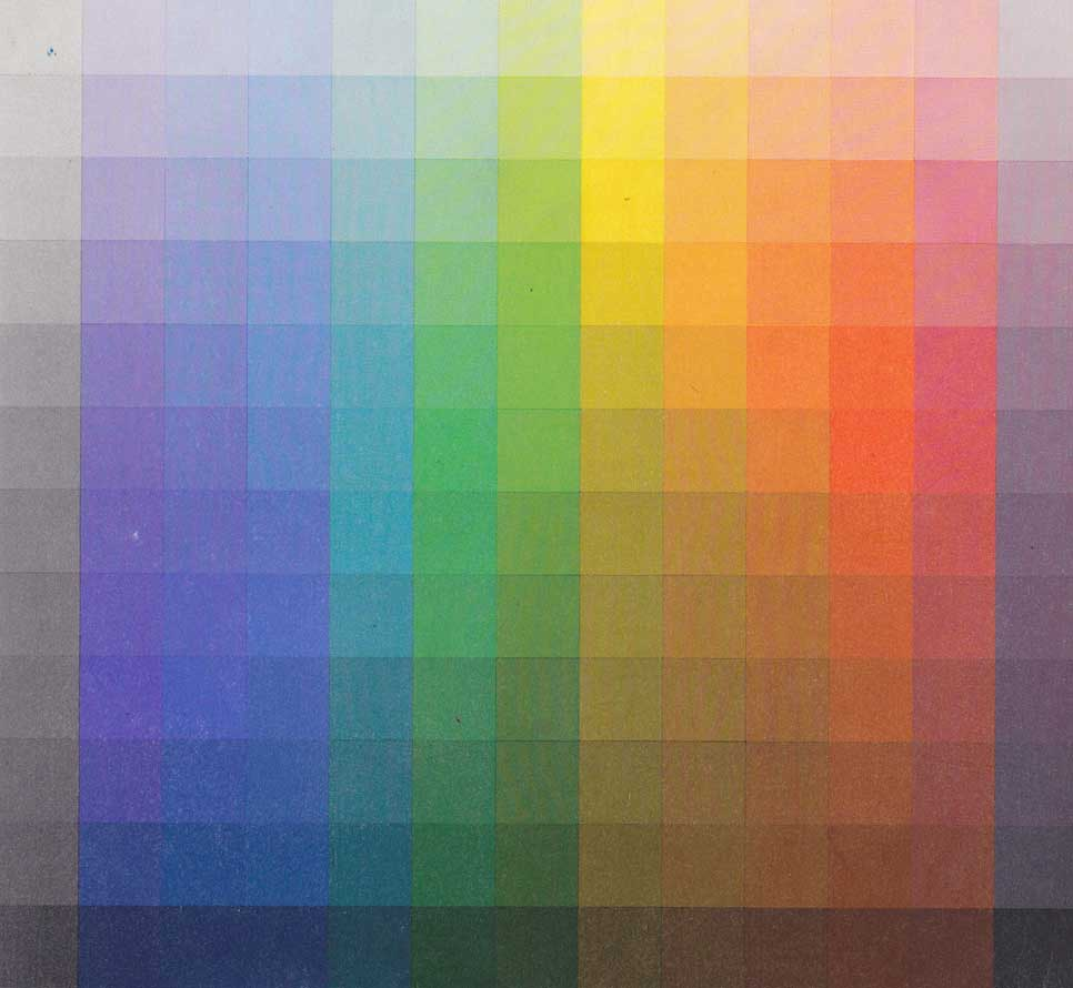 پرمایگی رنگ