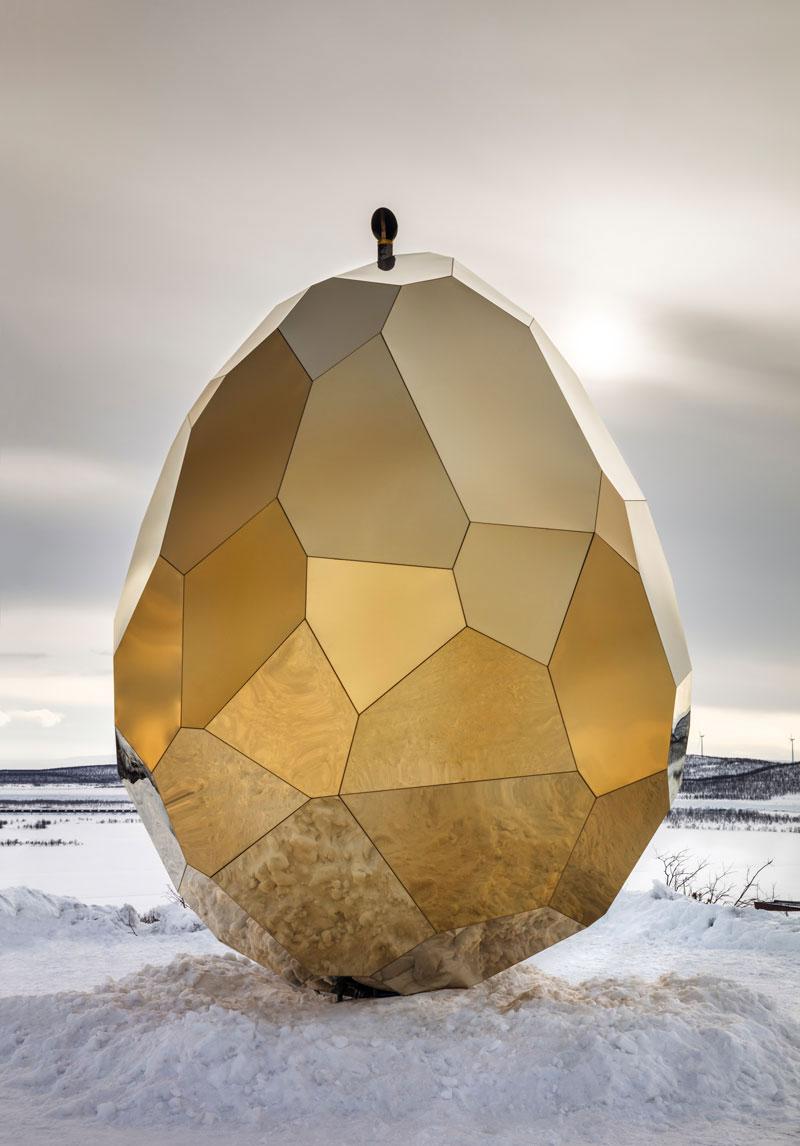 کانسپت متفاوت سونا، به شکل تخم مرغ طلایی