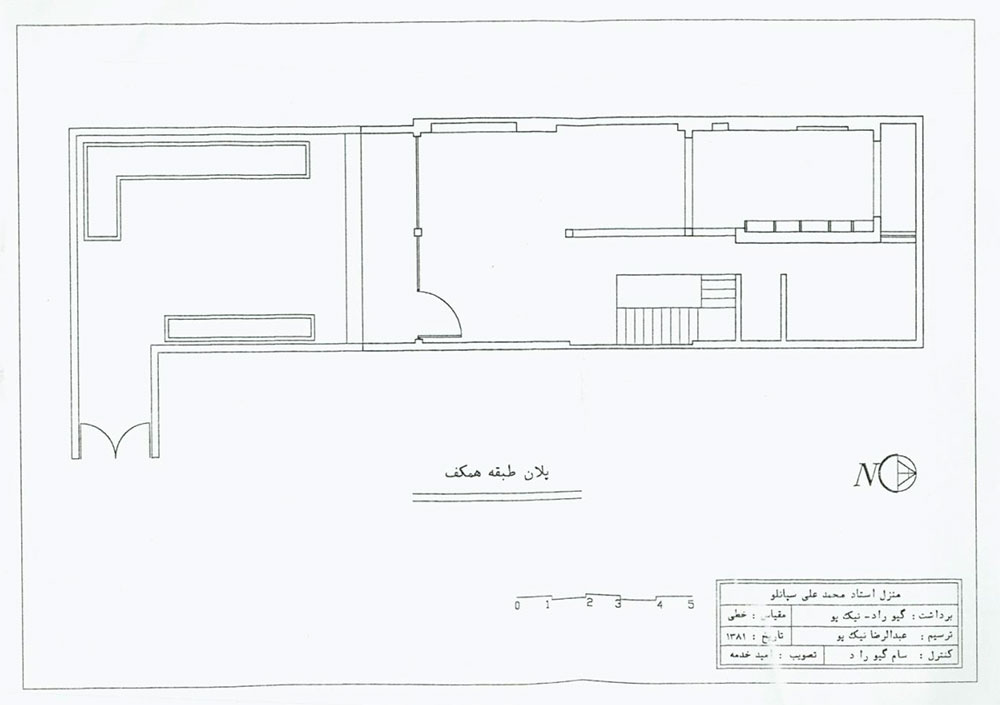 پلان خانه محمدعلی سپانلو
