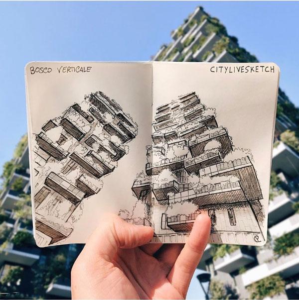 واقعیت و تخیل معماری در یک قاب