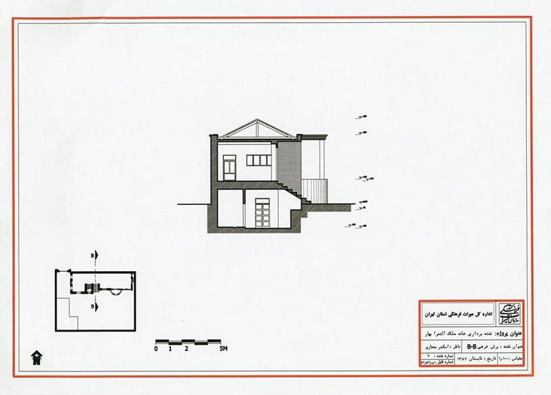 مقطع خانه ملک الشعرا بهار