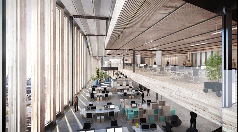 طراحی دفتر کار گوگل با لقب زمینخراش
