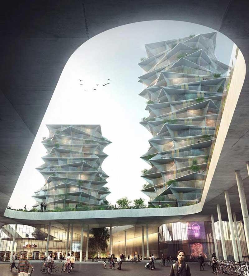 مجموعه چند منظوره تجاری مسکونی از گروه معماری BIG