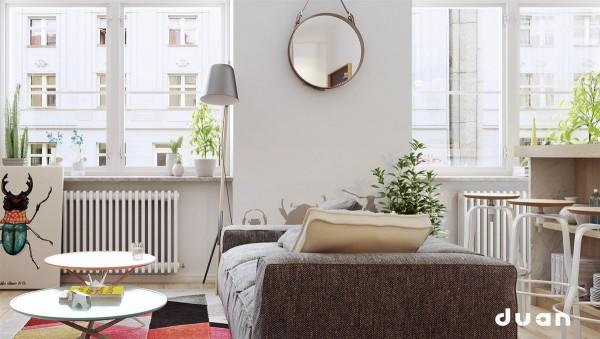 دکوراسیون داخلی آپارتمان های مدرن به سبک اسکاندیناوی