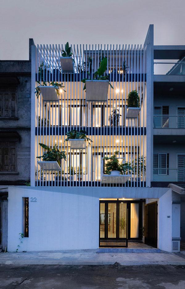طراحی نمای آپارتمان با ظاهری پویا و سرزنده