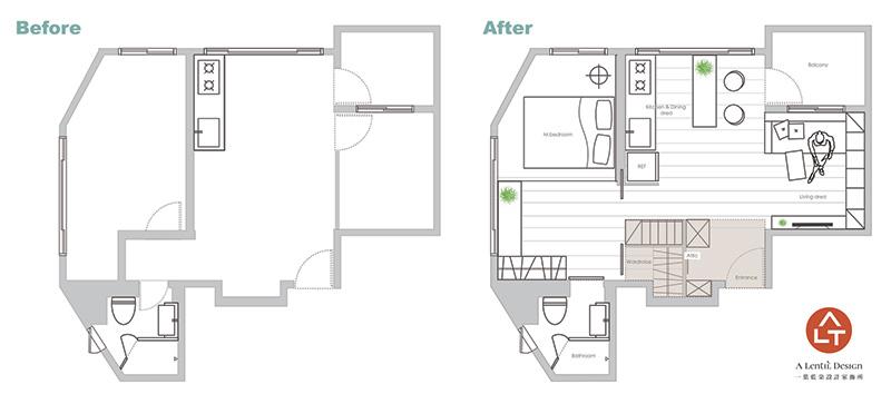 دکوراسیون و طراحی خانه کوچک 49 متری!