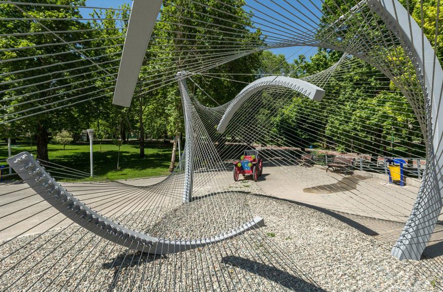 سازه کابلی در پارک ملت، طرح برگزیده مسابقات بین المللی