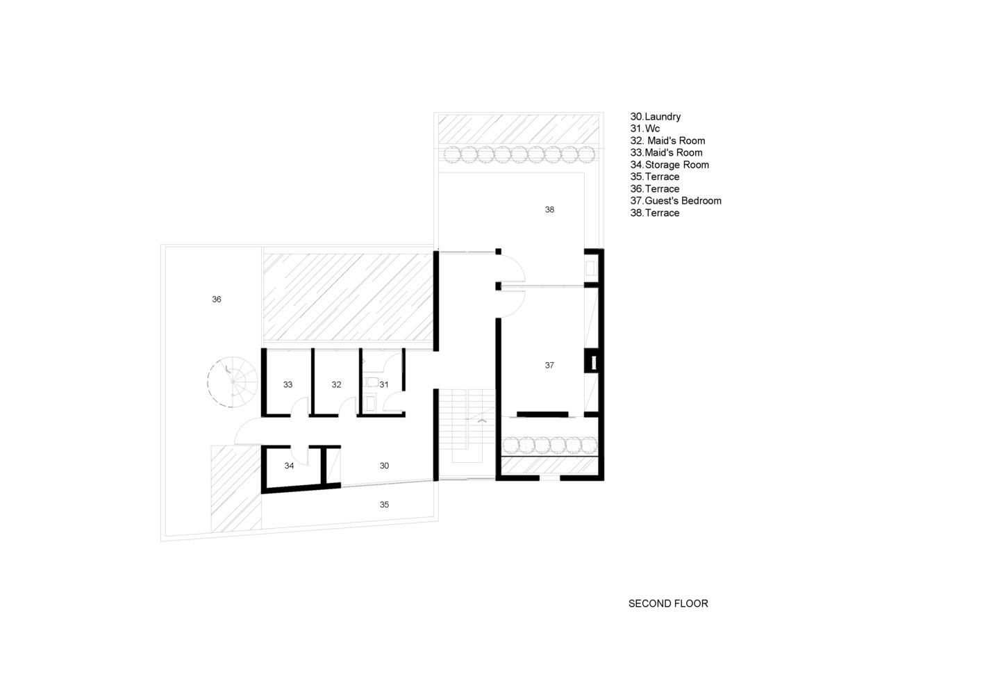 طراحی ویلای تریبلکس مدرن
