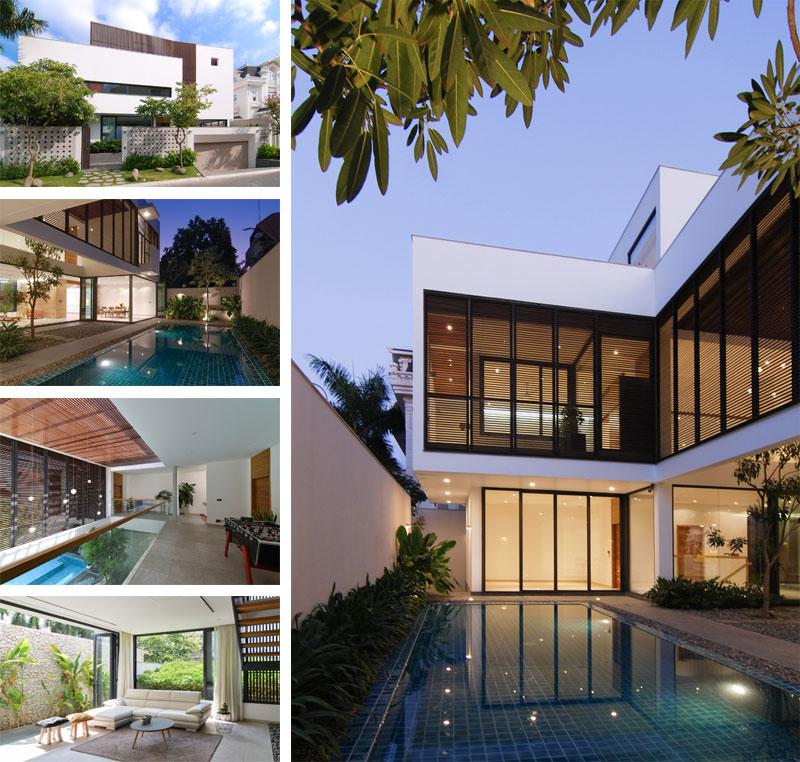 معماری و طراحی داخلی ویلای تریبلکس مدرن