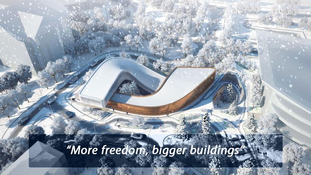 آزادی بیشتر، ساختمان های بزرگتر