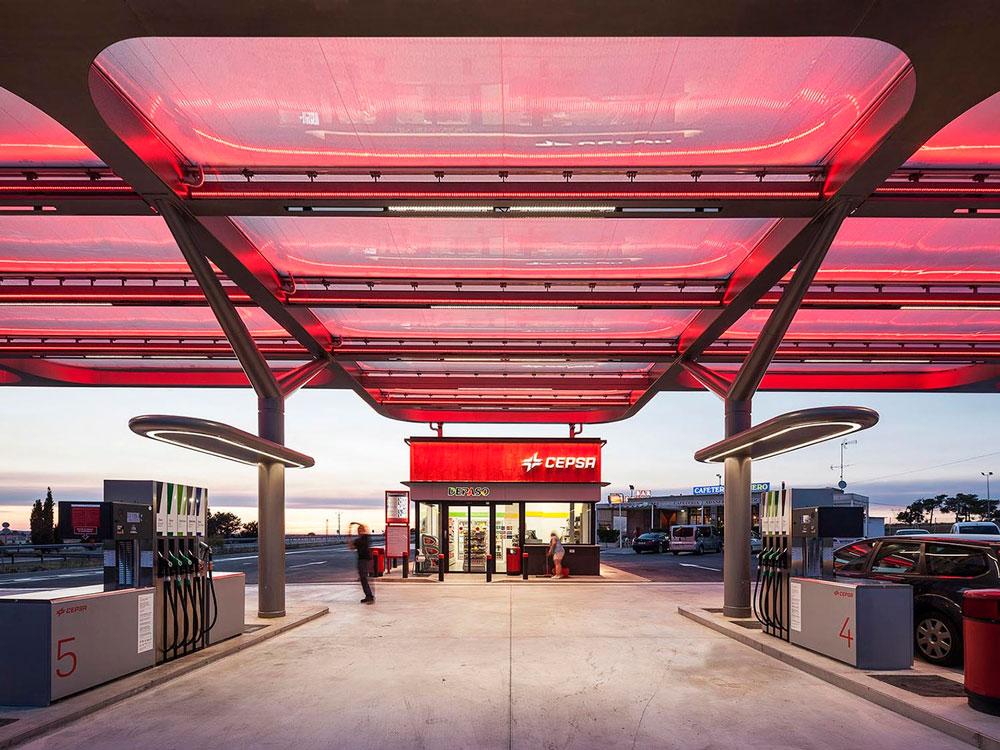 طراحی جایگاه پمپ بنزین