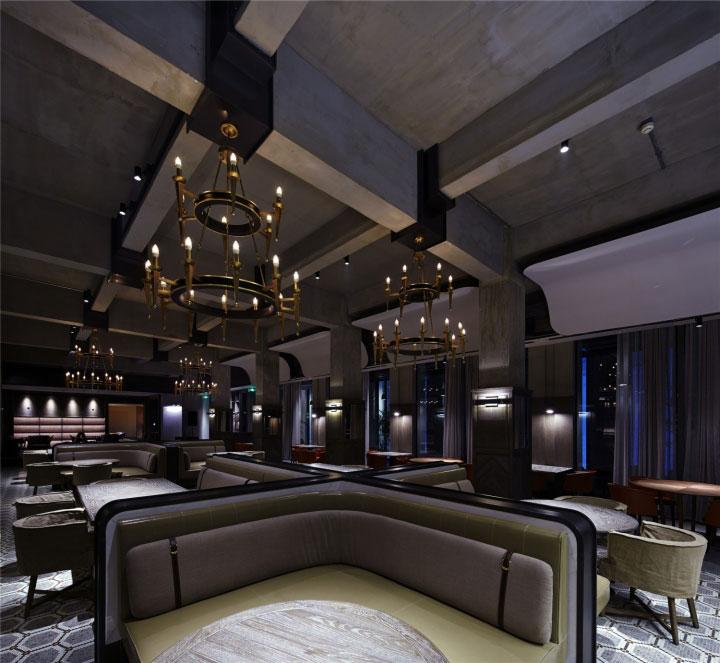 طراحی هتل 5 ستاره با نورپردازی مهیج