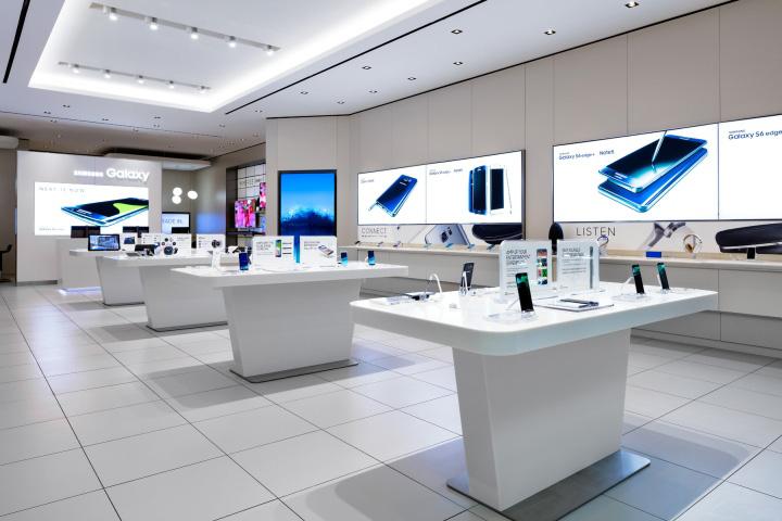 طراحی داخلی مغازه موبایل فروشی