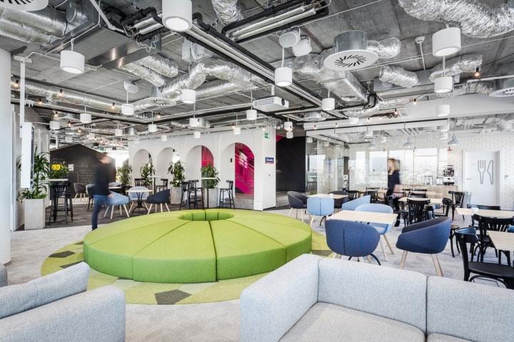 MediaCom Offices interior design%20(15) - طراحی دفتر اداری  به سبک صنعتی در اورناتتو