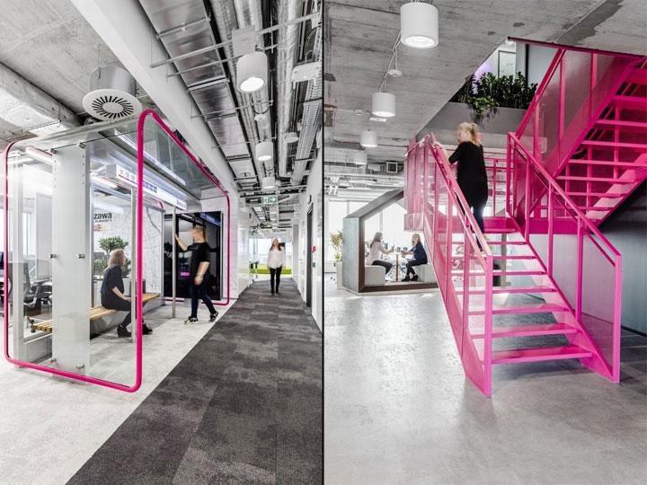 MediaCom Offices interior design%20(6) - طراحی دفتر اداری  به سبک صنعتی در اورناتتو