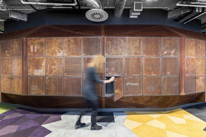 طراحی داخلی دفتر اداری به سبک صنعتی