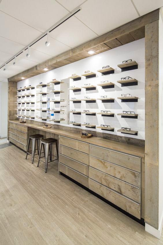 طراحی داخلی عینک فروشی