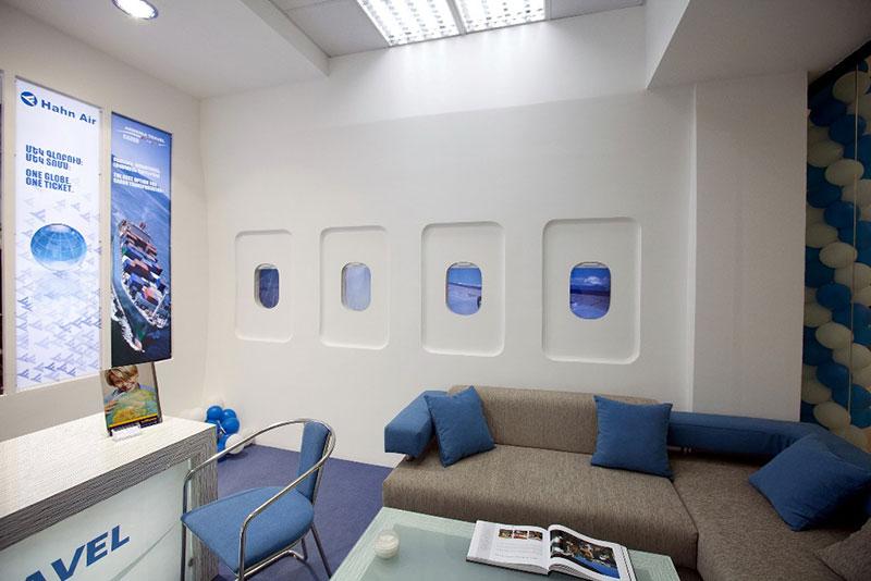 نمونه های طراحی داخلی و دکوراسیون آژانس هواپیمایی