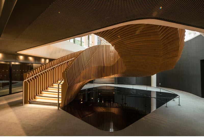 طراحی راه پله با پیروی از سبک معماری پارامتریک