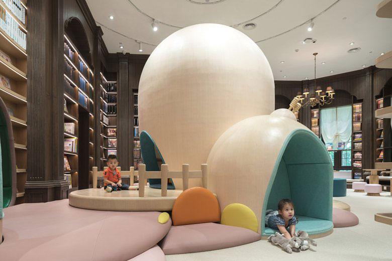 طراحی و دکوراسیون داخلی کتابفروشی کودکان