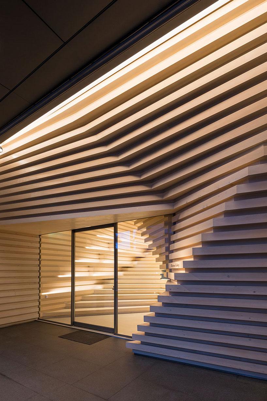 طراحی نمای چوبی گالری توسط معمار برجسته کنگو کوما