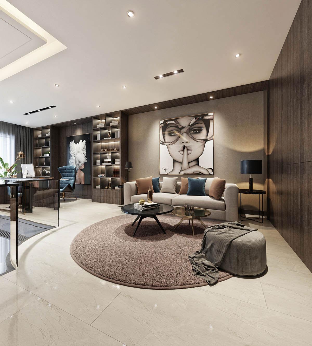 At Home Design: 2 نمونه طراحی داخلی خانه های لاکچری و مدرن به سبک آسیایی