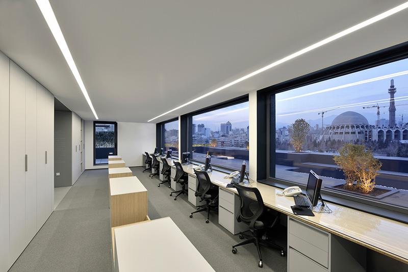 طراحی دفتر اداری فانتونی در تهران