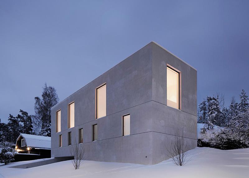 معماری و طراحی داخلی ویلا زمستانی مورتنوس