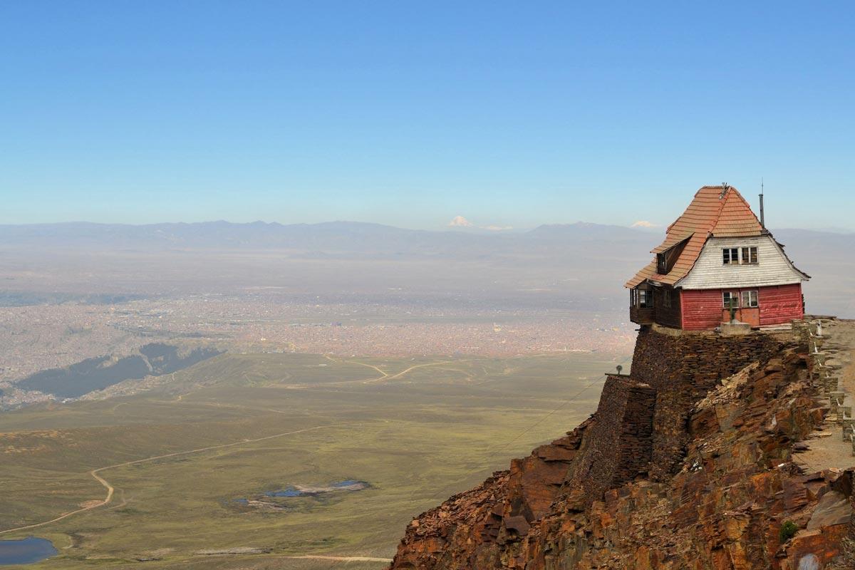 خانه در دره در لاپاز بولیوی