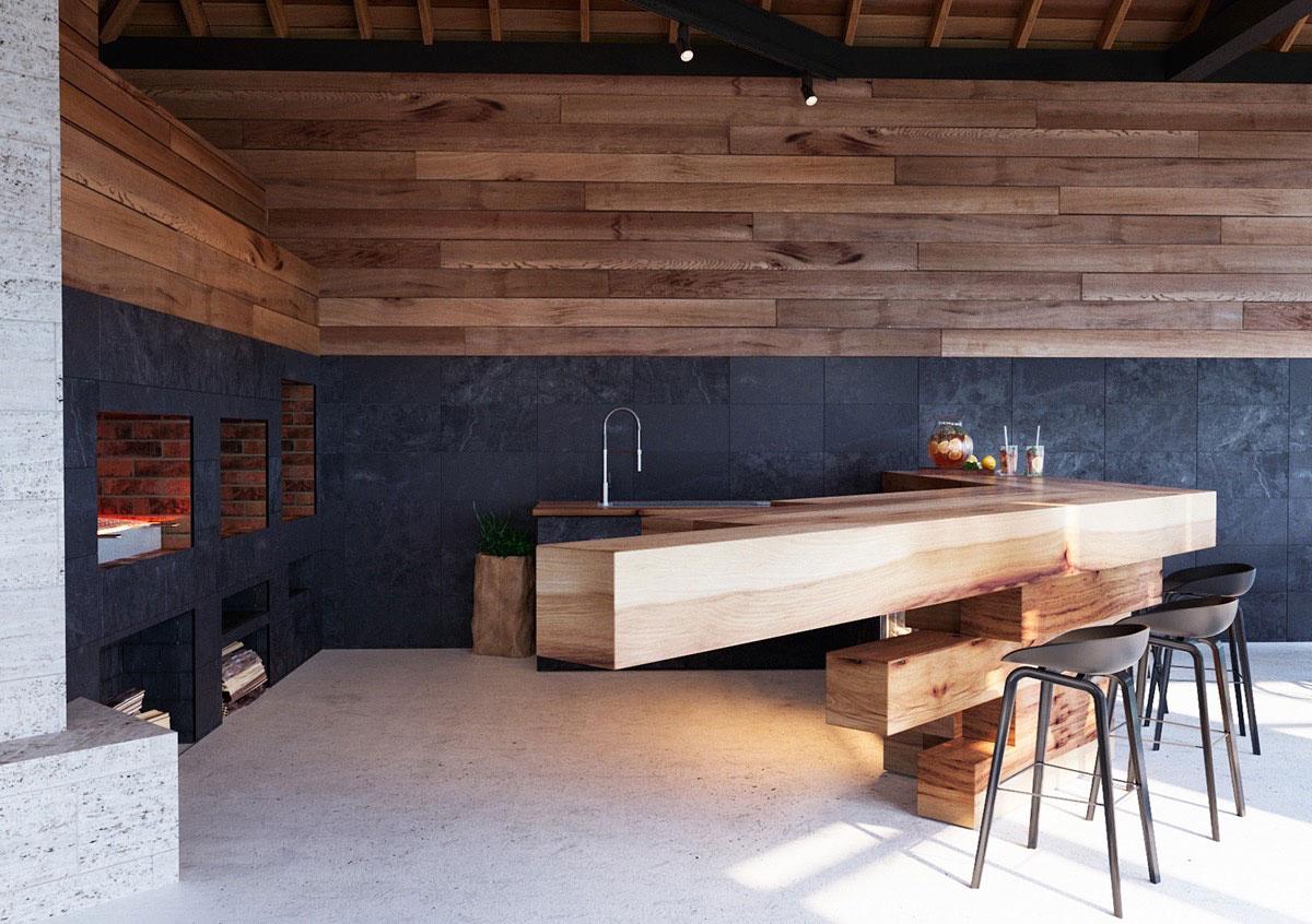 طراحی آشپزخانه مدرن و گرم